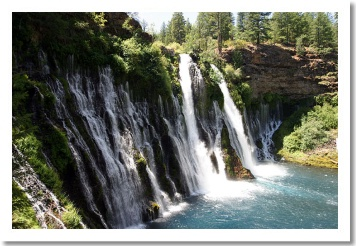 Burney Falls, 75 minutes from Redding California