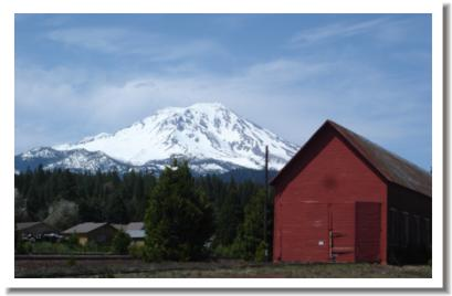 Mt Shasta as viewed from McCloud California