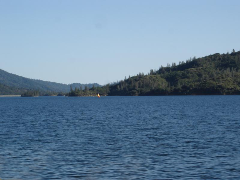 Sailboat on Whiskeytown Lake, Redding Ca