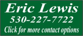 Contact Eric Lewis for Redding Area Real Estate