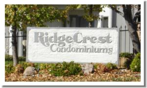 Ridgecrest condo sign
