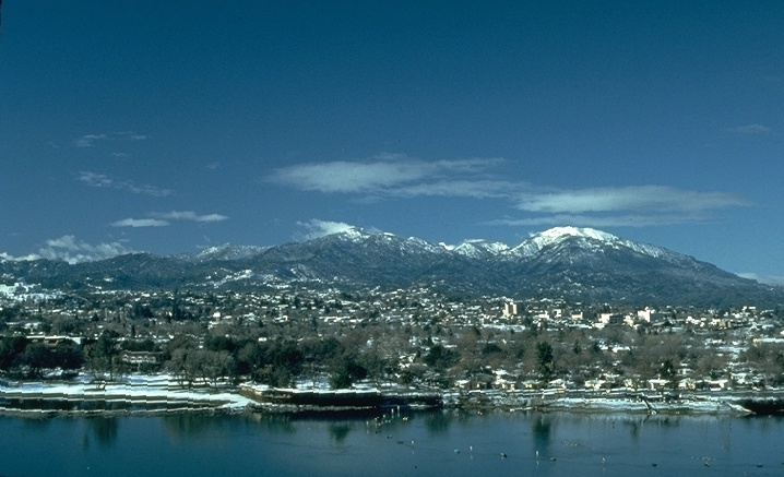 Redding California, our rare snow