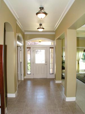The Entry Shown Here With Its Tile Floors Has Office 4th Bedroom Off To Left Near Door And Living Room Dining Right