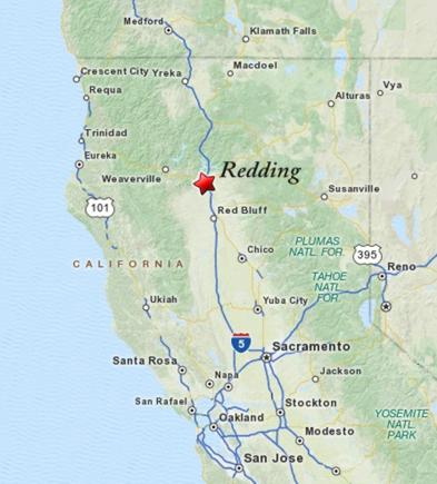 Redding Ca Map Redding